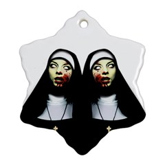 Horror Nuns Snowflake Ornament (two Sides) by Valentinaart