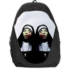 Horror Nuns Backpack Bag by Valentinaart