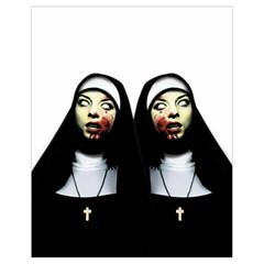 Horror Nuns Drawstring Bag (small) by Valentinaart
