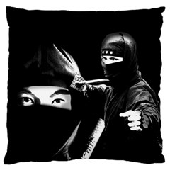 Ninja Standard Flano Cushion Case (one Side) by Valentinaart