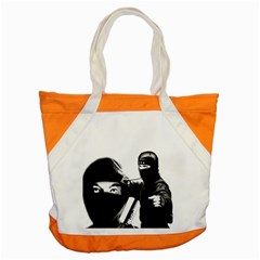 Ninja Accent Tote Bag by Valentinaart