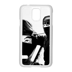 Ninja Samsung Galaxy S5 Case (white) by Valentinaart