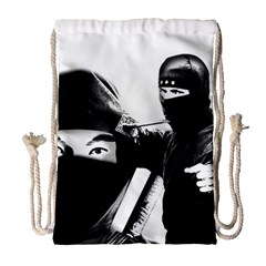 Ninja Drawstring Bag (large) by Valentinaart