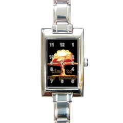Nuclear Explosion Rectangle Italian Charm Watch by Valentinaart