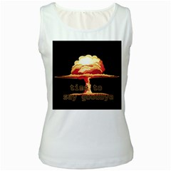Nuclear Explosion Women s White Tank Top by Valentinaart
