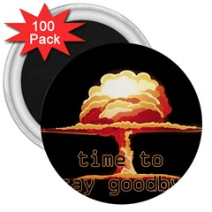 Nuclear Explosion 3  Magnets (100 Pack) by Valentinaart