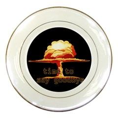 Nuclear Explosion Porcelain Plates by Valentinaart