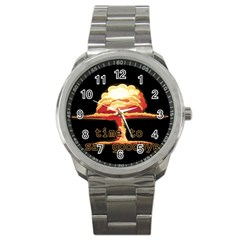 Nuclear Explosion Sport Metal Watch by Valentinaart
