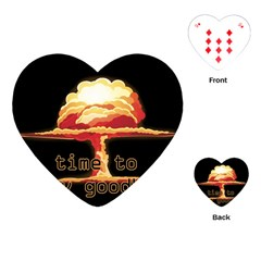 Nuclear Explosion Playing Cards (heart)  by Valentinaart