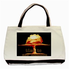 Nuclear Explosion Basic Tote Bag by Valentinaart