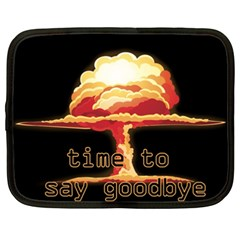 Nuclear Explosion Netbook Case (xxl)  by Valentinaart
