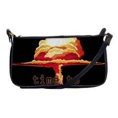 Nuclear Explosion Shoulder Clutch Bags by Valentinaart