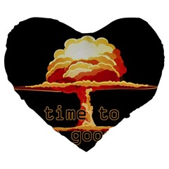 Nuclear Explosion Large 19  Premium Heart Shape Cushions by Valentinaart