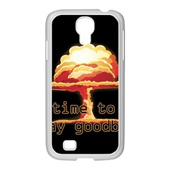 Nuclear Explosion Samsung Galaxy S4 I9500/ I9505 Case (white) by Valentinaart