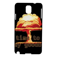 Nuclear Explosion Samsung Galaxy Note 3 N9005 Hardshell Case by Valentinaart