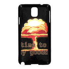 Nuclear Explosion Samsung Galaxy Note 3 Neo Hardshell Case (black) by Valentinaart
