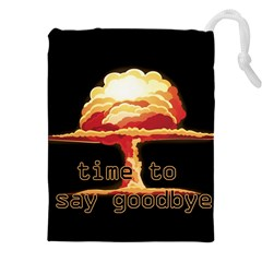 Nuclear Explosion Drawstring Pouches (xxl) by Valentinaart