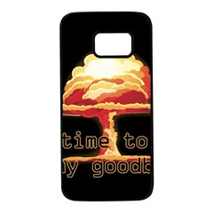 Nuclear Explosion Samsung Galaxy S7 Black Seamless Case by Valentinaart