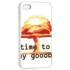 Nuclear Explosion Apple Iphone 4/4s Seamless Case (white) by Valentinaart