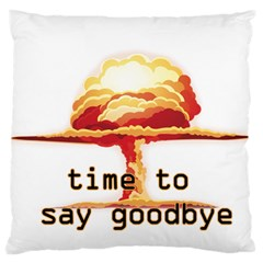 Nuclear Explosion Large Cushion Case (one Side) by Valentinaart