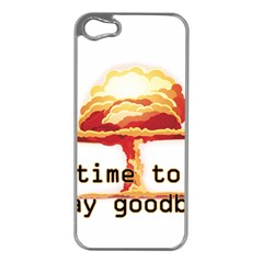 Nuclear Explosion Apple Iphone 5 Case (silver) by Valentinaart