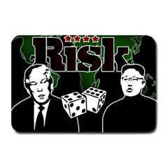 Nuclear Explosion Trump And Kim Jong Plate Mats by Valentinaart