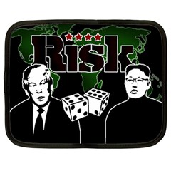 Nuclear Explosion Trump And Kim Jong Netbook Case (large) by Valentinaart