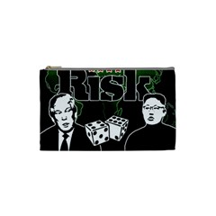 Nuclear Explosion Trump And Kim Jong Cosmetic Bag (small)  by Valentinaart