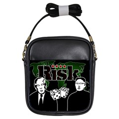 Nuclear Explosion Trump And Kim Jong Girls Sling Bags by Valentinaart