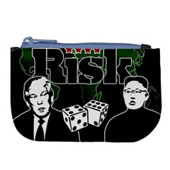 Nuclear Explosion Trump And Kim Jong Large Coin Purse by Valentinaart