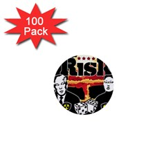 Nuclear Explosion Trump And Kim Jong 1  Mini Buttons (100 Pack)  by Valentinaart