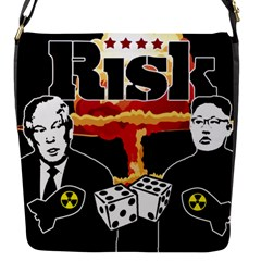 Nuclear Explosion Trump And Kim Jong Flap Messenger Bag (s) by Valentinaart