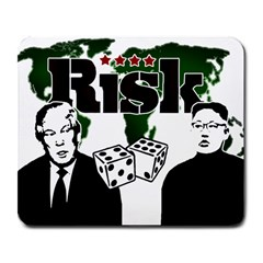 Nuclear Explosion Trump And Kim Jong Large Mousepads by Valentinaart