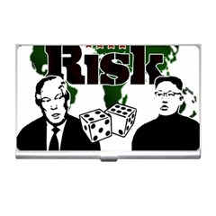 Nuclear Explosion Trump And Kim Jong Business Card Holders by Valentinaart