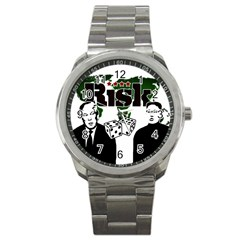 Nuclear Explosion Trump And Kim Jong Sport Metal Watch by Valentinaart