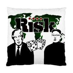 Nuclear Explosion Trump And Kim Jong Standard Cushion Case (two Sides) by Valentinaart