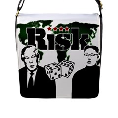 Nuclear Explosion Trump And Kim Jong Flap Messenger Bag (l)  by Valentinaart