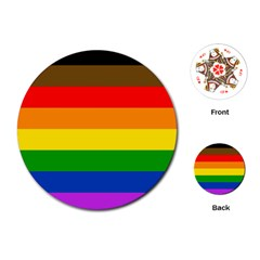 Philadelphia Pride Flag Playing Cards (round)  by Valentinaart
