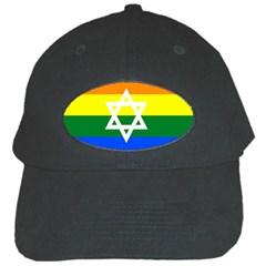 Gay Pride Israel Flag Black Cap by Valentinaart