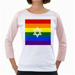 Gay Pride Israel Flag Girly Raglans by Valentinaart