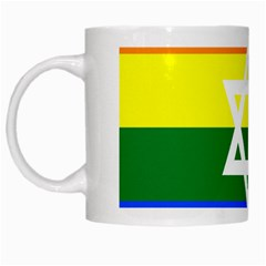 Gay Pride Israel Flag White Mugs by Valentinaart