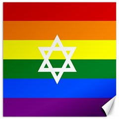 Gay Pride Israel Flag Canvas 12  X 12   by Valentinaart