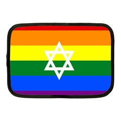 Gay Pride Israel Flag Netbook Case (medium)  by Valentinaart