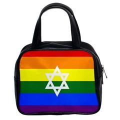 Gay Pride Israel Flag Classic Handbags (2 Sides) by Valentinaart