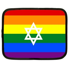 Gay Pride Israel Flag Netbook Case (xl)  by Valentinaart