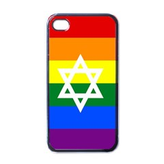 Gay Pride Israel Flag Apple Iphone 4 Case (black) by Valentinaart