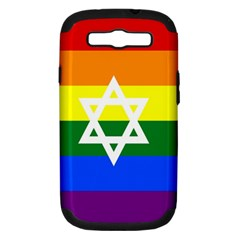 Gay Pride Israel Flag Samsung Galaxy S Iii Hardshell Case (pc+silicone) by Valentinaart