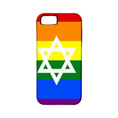 Gay Pride Israel Flag Apple Iphone 5 Classic Hardshell Case (pc+silicone) by Valentinaart