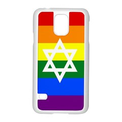 Gay Pride Israel Flag Samsung Galaxy S5 Case (white) by Valentinaart