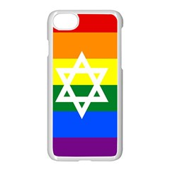 Gay Pride Israel Flag Apple Iphone 7 Seamless Case (white) by Valentinaart